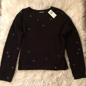 Black Grommet Sweater